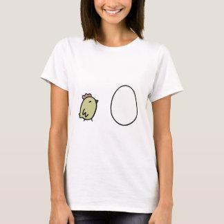 鶏及び卵 Tシャツ