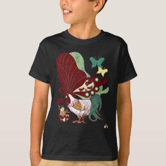 鶏蝶の親子(Parent-child Butterfly chicken) Tシャツ