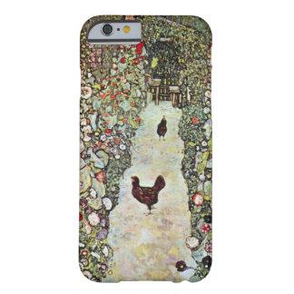 鶏、クリムト、アールヌーボーが付いている庭道 iPhone 6 ベアリーゼアケース