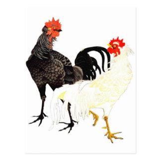 鶏 伊藤若冲 ニワトリ にわとり 日本画 はがき