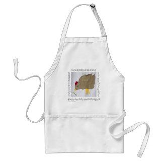 鶏 + 音楽エプロン(米国でなされる) スタンダードエプロン