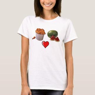 鶏bucket1、スイカ[1]、491px-Heart_lef… Tシャツ