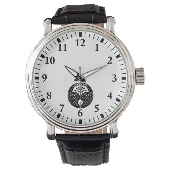 鶴割り桐 腕時計