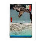 鷲と雪景色、広重のワシおよび雪場面、Hiroshige ポストカード