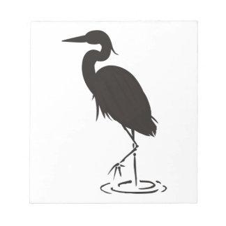 鷲のシルエット ノートパッド