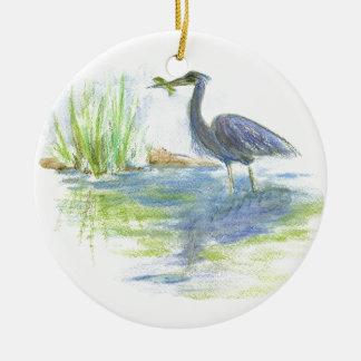 鷲の昼食-水彩画の鉛筆 セラミックオーナメント