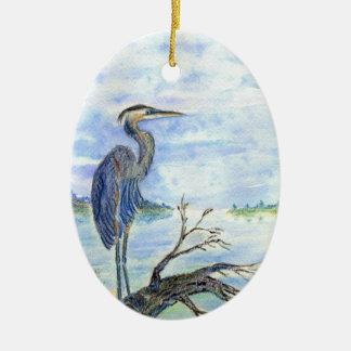 鷲の歩哨-水彩画の鉛筆 セラミックオーナメント