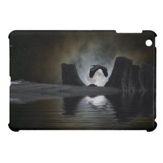 鷲の野性生物のMoonliteの青いアートワーク iPad Miniケース