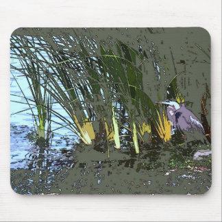 鷲の鳥の野性生物動物の沼地 マウスパッド