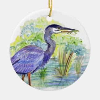 鷲はカエル-水彩画の鉛筆--を食べます セラミックオーナメント