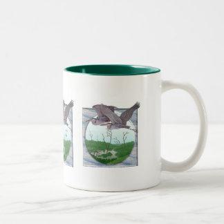 鷲 ツートーンマグカップ