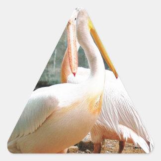 鷲 三角形シール