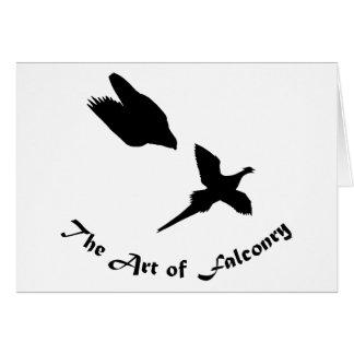 鷹狩のハヤブサの芸術 カード