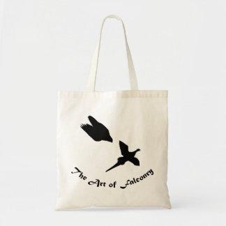 鷹狩のハヤブサの芸術 トートバッグ