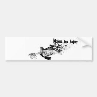 鷹狩のバンパーステッカー バンパーステッカー