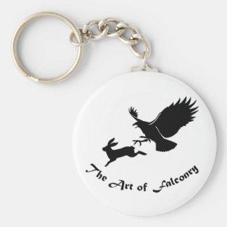 鷹狩-赤い尾タカの芸術 キーホルダー