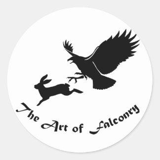 鷹狩-赤い尾タカの芸術 ラウンドシール
