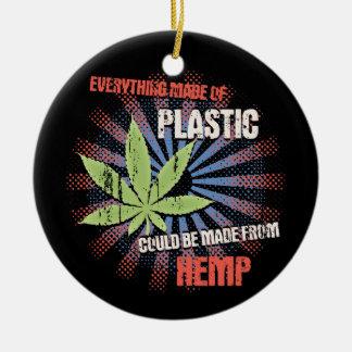 麻のプラスチック セラミックオーナメント