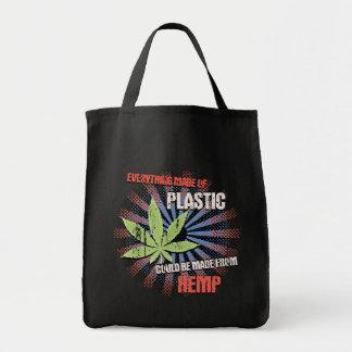 麻のプラスチック トートバッグ