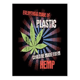 麻のプラスチック 葉書き
