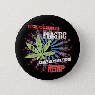 麻のプラスチック 5.7CM 丸型バッジ