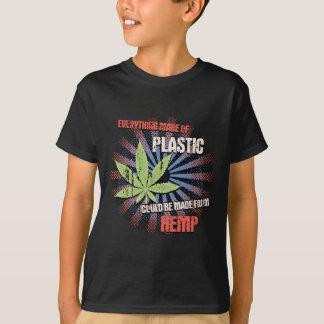 麻のプラスチック Tシャツ