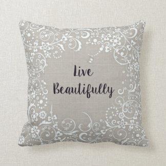 麻布一見の綿の枕は美しく住んでいます クッション