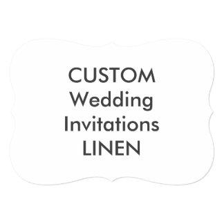 """麻布100lb 7x5""""ブラケットの形の結婚式招待状 カード"""