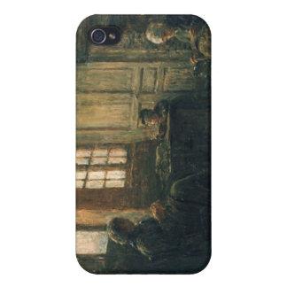 麻布、Honfleur 1877年をすり切らしている女性 iPhone 4/4Sケース