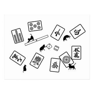 麻雀猫 mahjong cat ポストカード
