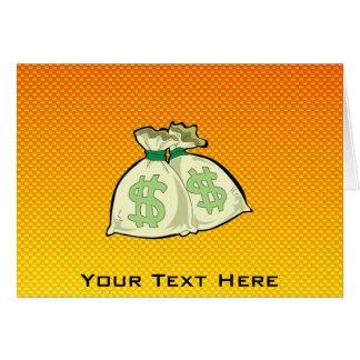 黄橙色のお金のバッグ カード