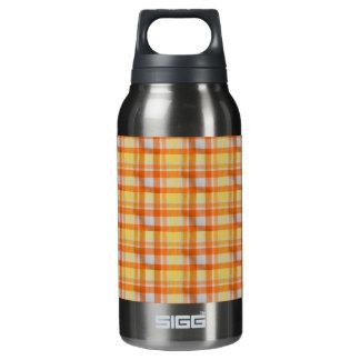 黄橙色のギンガム 断熱ウォーターボトル