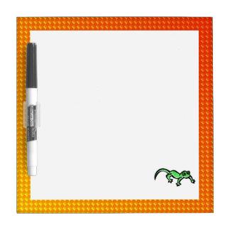 黄橙色のトカゲ ホワイトボード