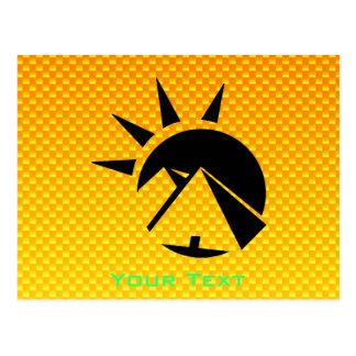 黄橙色のピラミッド ポストカード