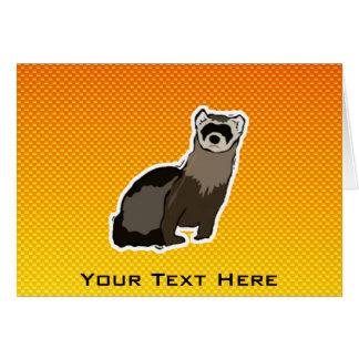 黄橙色のフェレット カード