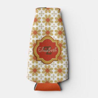 黄橙色のモノグラムの雪片パターン ボトルクーラー