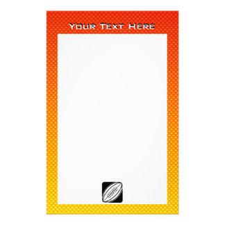 黄橙色のラグビー 便箋