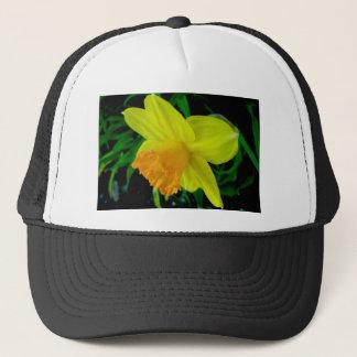 黄橙色のラッパスイセンの帽子 キャップ