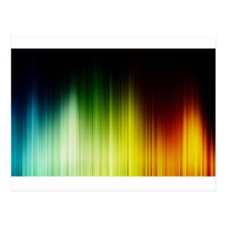 黄橙色抽象的な虹の赤く青い貪欲 ポストカード