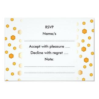 黄色いおよびオレンジの幾何学的なパターン カード