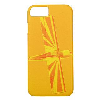 黄色いおよびオレンジの飛行機のやっとそこにiPhone 7の箱 iPhone 8/7ケース