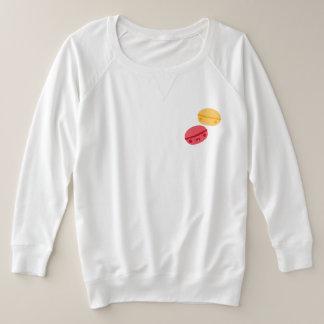 黄色いかわいいおよび赤いマカロン プラスサイズスウェットシャツ