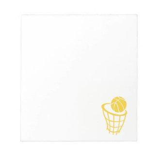 黄色いこはく色のバスケットボール ノートパッド