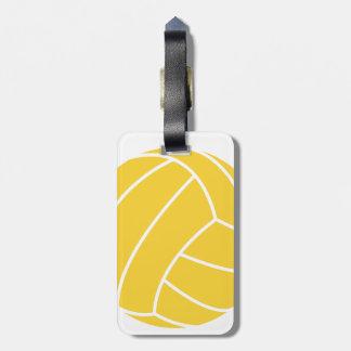 黄色いこはく色のバレーボール ラゲッジタグ