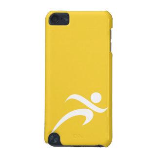 黄色いこはく色のランニング iPod TOUCH 5G ケース