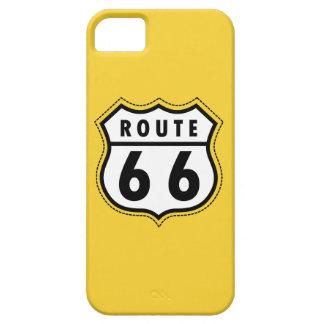 黄色いこはく色のルート66の交通標識 iPhone SE/5/5s ケース