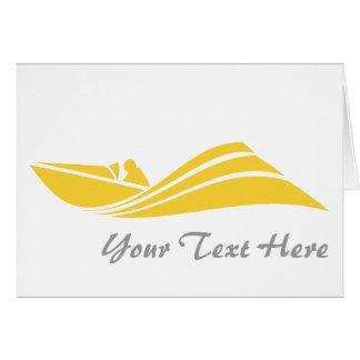 黄色いこはく色の速度のボート カード