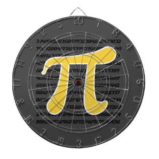 黄色いこはく色Piの記号 ダーツボード