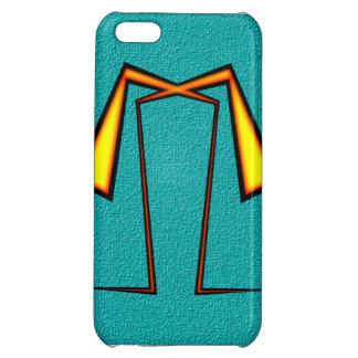 黄色いちょうネクタイの抽象芸術のiPhoneの箱 iPhone5Cケース