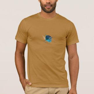 黄色いひれのマグロメンズT. Tシャツ